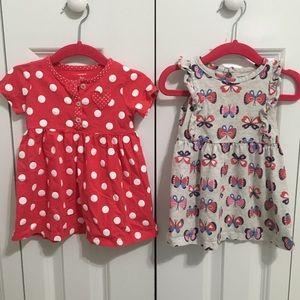 Lot of 13 Dresses/Romper/Shirts - Size 9m